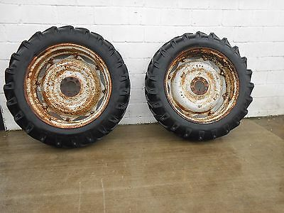 Pair Ford?  IH?  Tractor Wheels & Tyres. Good Wheels, Decent Tyres. 13.6/12-38""
