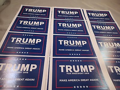 WHoLESALE LOT 60 DONALD TRUMP MAKE AMERICA GREAT AGAIN LAPEL STICKER PRESIDENT R