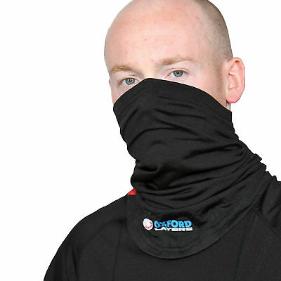 Oxford Motorcycle Bike Base Layers Thermal Insulation Warm Dry Neck Tube Black