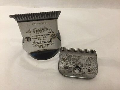 Oster A2 Small Animal Clippers Electric Vintage Head 2 Blades Sizes 10 15