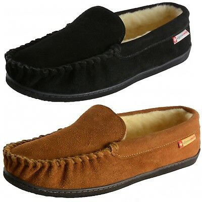Alpine Swiss Womens Suede Moccasin Slippers