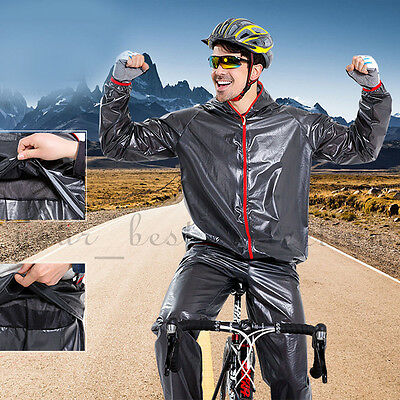 Men Women Windproof Waterproof Jacket Bike Bicycle Outdoor Sports Rain Coat New