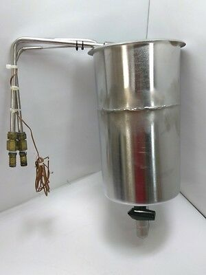 """Cooling Bath Stainless Steel, 9 Coils, D 12 1/4"""" X W 6 3/4"""", 1/2"""" Barb Fittings"""