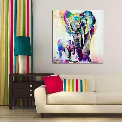Modern Abstract Wall Art Oil Painting On Canvas Elephant /Horse Unframed New C