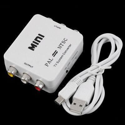 PAL NTSC SECAM To NTSC PAL TV Video System Converter Switcher Adapter New XH