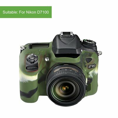 Newest Trendy Anti-slip Soft Silicone Cover Protective D7100 Body Cover Case XH