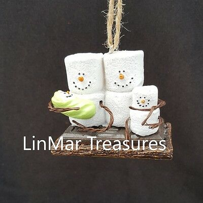 S'mores Family Ornament Mom Dad Child and Baby Ornament Midwest CBK
