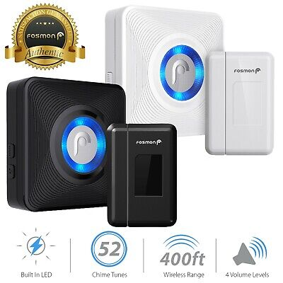 Fosmon 400FT Wireless Door Sensor Alarm Window Security Alert Magnetic Sensor