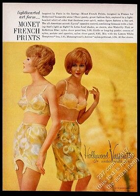 1962 Hollywood Vassarette lingerie women bra pettiskirt girdle photo vintage ad