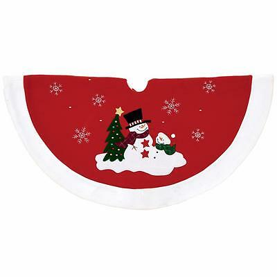 Premier Traditional 90cm Tree Skirt - Snowman Design
