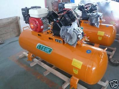 Air Compressor 100 Ltr New  Petrol Engine 5.5 Hp Incs Free 10 Mtr Airline