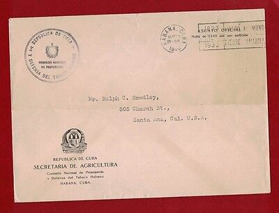 1940 Rotary Cover Caribbean to America Stamples Rare
