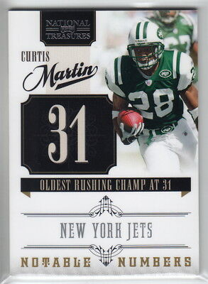 2010 Playoff National Treasures Notable Numbers #14 Curtis Martin #48/99