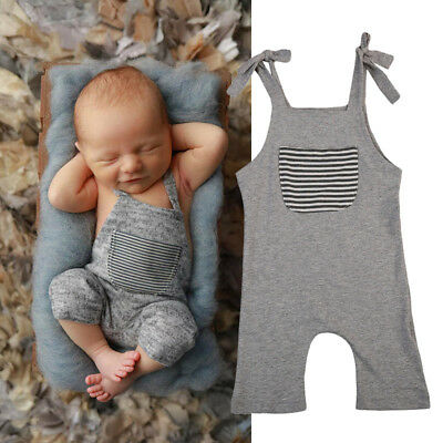 Newborn Infant Kids Baby Boy Girl Romper Jumpsuit Bodysuit Clothes Outfit US