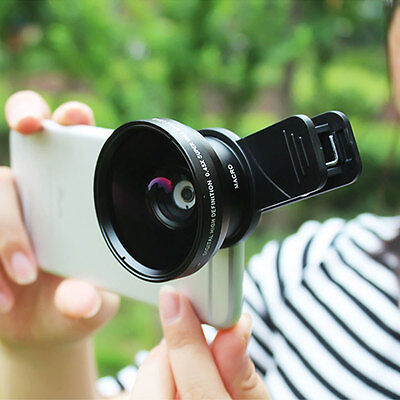 2-in-1 Clip On 0.45x Wide Angle Lens & 12.5x Macro Lens For iphone X Samsung S7