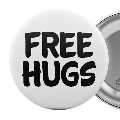 FREE HUGS - Badge Button Pin 55mm 2.25""