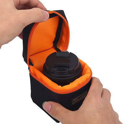 Waterproof Protective DSLR SLR Camera Lens Bag Case Pouch With Loop & Hook DY