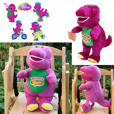 32CM SINGING BARNEY THE DINOSAUR SOFT BEAR DOLL PLUSH KIDS BABY TALKING TOY Gift
