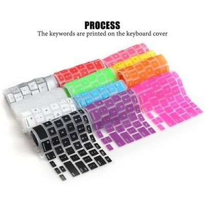 LENTION Durable Silicone Keyboard Cover Skin for Macbook Air Macbook Pro13/15/17