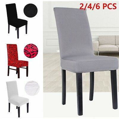 Stretchable Removable Slipcover Dining Chair Seat Cover Spandex Lycra 4/6/8 Pcs