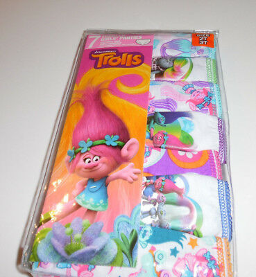 Trolls Dream Works Undies Panties Underwear Toddler Girls 2T/3T NIP Pink Green