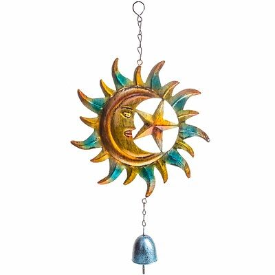 SUN MOON STAR HANGING GARDEN WINDCHIME Metal Decorative Outdoor Mobile Chime