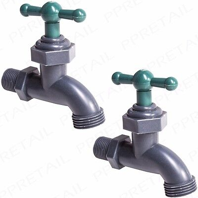 2x HOSE PIPE FITTING GARDEN TAP Strong Outdoor Connector Water STANDARD UK FIT