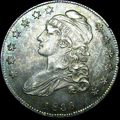 1836 Capped Bust Half Dollar Silver Counterstamped EEC ---- NICE ----  #Z372