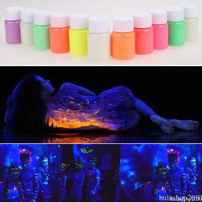 25g Glow in Dark Acrylic Luminous Powder Bright Pigment Graffiti Party DIY AH44