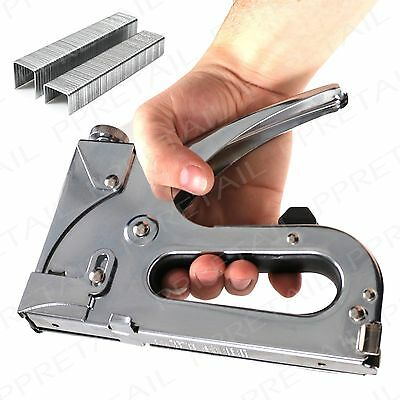 Heavy Duty EXTRA LARGE Chrome Staple Gun With 800 Staples DIY Upholstery Fabric