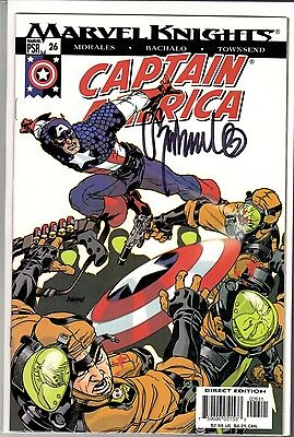 Marvel Knights Captain America #21 Signed by Chris Bachalo with COA