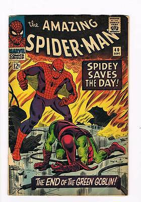 Amazing Spider-Man # 40  Death of the Goblin grade 3.0 scarce book !!