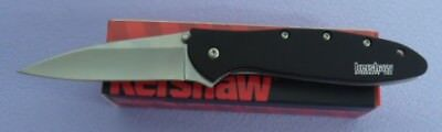 Kershaw Knife 1660Swblk 1660 Leek Blk W/ Stone Was Finish Speed Safe Assisted!!!