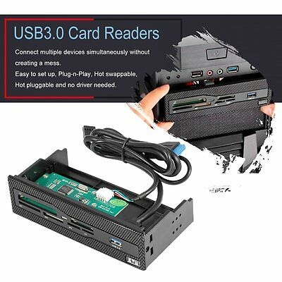 "5.25"" USB 3.0 Port CF/XD/MS/M2/TF Smart PC Internal Card Reader Dashboard XH"