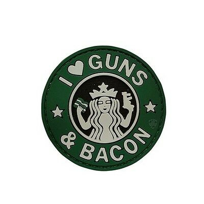 """5ive Star Gear 6713000 I Love Guns and Bacon 2.25"""" Round Morale Patch"""