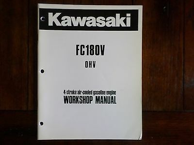 Kawasaki FC180V OHV 4 Stroke Air Cooled Gasoline Engine Workshop Manual