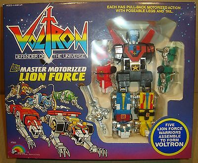 Voltron Defender Of The Universe Master Motorized Lion Force Ljn Toys Ltd 1984
