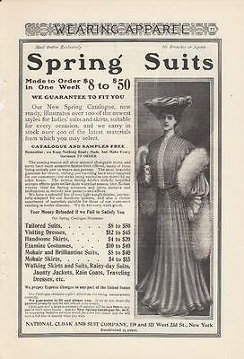 1903 National Cloak and Suite Co New York NY Ad: Spring Suits Made to Order