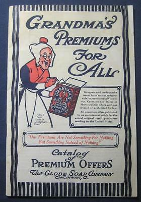 Vintage Grandma's Soap Prize Premiums Catalog Globe Soap Co Cincinnati Ohio