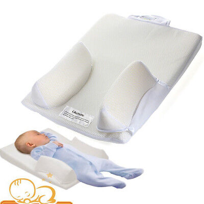Newborn Baby Infant Anti Roll Pillow Sleep Positioner Cushion Prevent Flat Head