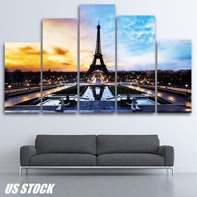 Eiffel Tower Modern Canvas Home Wall Decor Art Painting Picture Print No Framed