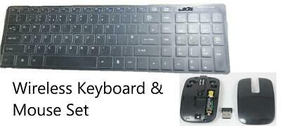 WHITE Wireless Keyboard + Num Pad & Mouse for Samsung UE55F8000 Smart TV