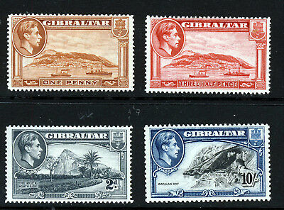 GIBRALTAR King George VI 1938-51 Pictorial Group SG 122 to SG 130a MINT & MNH