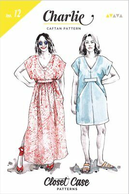 Closet Case Patterns SEWING PATTERN No.12 Charlie Caftan Sizes 0-20