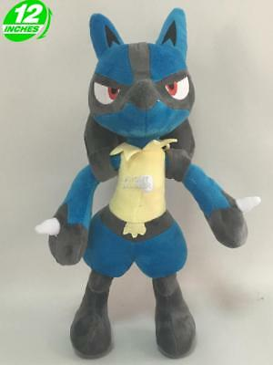 "12"" Pokemon Go Lucario Plush Anime Stuffed Christmas Doll PNPL7281"