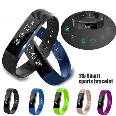 Bluetooth Smart Watch Bracelet Wristband Pedometer Sport Fitness Tracker ID115