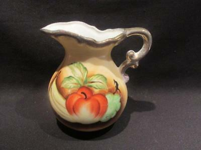 "S S Kresge Co Mid-Century Pitcher made in Japan 5.25"" Still Life Fruit Design"