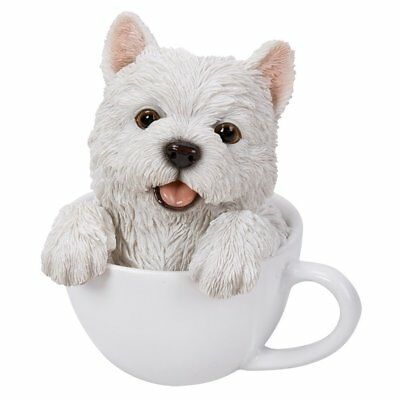 West Highland White Terrier Puppy Dog Teacup Pet Pal Collection Figurine Westie
