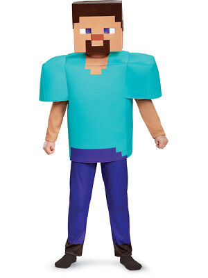 Child's Boys Deluxe Minecraft Steve Mine Craft Mojang Costume