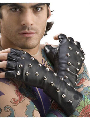 Adults Gothic Punk Vampire Biker Costume Studded PVC Gloves